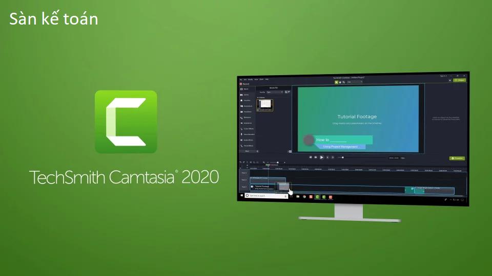 Phần mềm quay video màn hình Camtasia 9 bản đã được mở khóa