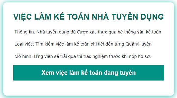 Trang web tuyển dụng việc làm kế toán chuyên nghiệp và lớn nhất Việt Nam.