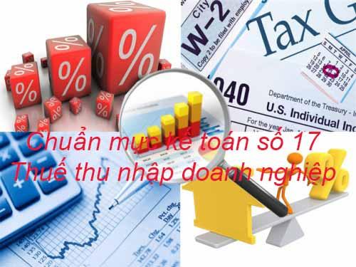 VAS 17 - Thuế thu nhập doanh nghiệp